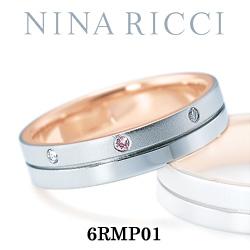 結婚指輪 プラチナ900 K18ピンクゴールド ダイヤモンド ピンクダイヤモンド マリッジリング ニナリッチ 6RMP01  プラチナ結婚指輪 ピンクゴールド結婚指輪 ペア結婚指輪 刻印無料結婚指輪 送料無料結婚指輪 シンプル結婚指輪 ブライダル結婚指輪
