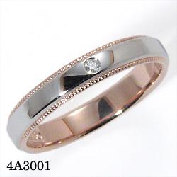 【割引クーポンが使える】 結婚指輪 プラチナ900 K18ピンクゴールド サファイア ダイヤモンド マリッジリング 4A3001 ロマンティックブルー  プラチナ結婚指輪 ピンクゴールド結婚指輪 ペア結婚指輪 刻印無料結婚指輪 送料無料結婚指輪