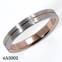 【割引クーポンが使える】 結婚指輪 プラチナ900 K18ピンクゴールド サファイア ダイヤモンド マリッジリング 4A3002 ロマンティックブルー  プラチナ結婚指輪 ピンクゴールド結婚指輪 ペア結婚指輪 刻印無料結婚指輪 送料無料結婚指輪