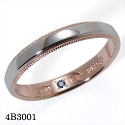 【割引クーポンが使える】 結婚指輪 プラチナ900 K18ピンクゴールド サファイア マリッジリング 4B3001 ロマンティックブルー  プラチナ結婚指輪 ピンクゴールド結婚指輪 ペア結婚指輪 刻印無料結婚指輪 送料無料結婚指輪 シンプル結婚指輪