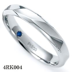 【割引クーポンが使える】 結婚指輪 プラチナ900 サファイア マリッジリング 4RK004 ロマンティックブルー  プラチナ結婚指輪 ペア結婚指輪 刻印無料結婚指輪 送料無料結婚指輪 シンプル結婚指輪 ブライダル結婚指輪