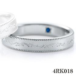 【割引クーポンが使える】 結婚指輪 プラチナ900 サファイア マリッジリング 4RK018 ロマンティックブルー  プラチナ結婚指輪 ペア結婚指輪 刻印無料結婚指輪 送料無料結婚指輪 シンプル結婚指輪 ブライダル結婚指輪