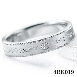 【割引クーポンが使える】 結婚指輪 プラチナ900 サファイア ダイヤモンド マリッジリング 4RK019 ロマンティックブルー  プラチナ結婚指輪 ペア結婚指輪 刻印無料結婚指輪 送料無料結婚指輪 シンプル結婚指輪 ブライダル結婚指輪