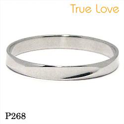 【割引クーポンが使える】 結婚指輪 ペアセット プラチナ900 マリッジリング P268 トゥルーラブ