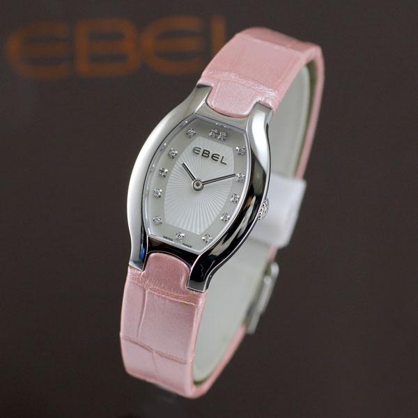 エベルは安心の正規販売店で EBEL WAVE ベルーガ トノー ミニ マカロン ローズ ピンク 日本限定 ホワイトシェルダイヤル 正規輸入品  Ref.1216208 BELUGA TONNEAU MINI MACARON ROSE