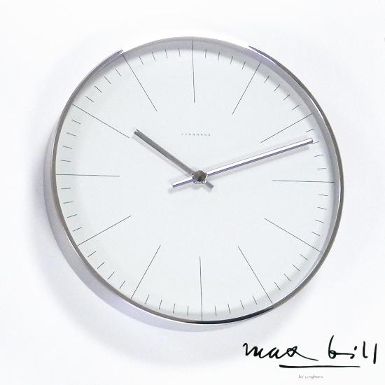 ユンハンスは安心の正規販売店で マックスビル by ユンハンス maxbill by JUNGHANS 掛時計 30cm ウォールクロック バー 367/6046.00