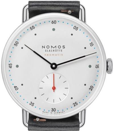 ノモスは安心の正規販売店で NOMOS メトロ ネオマティック 35mm METRO neomatik 35 ホワイト 日本正規品 MT130014W2