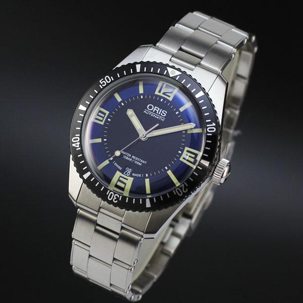 正規販売店で買う オリス ORIS ダイバーズ'65 Divers'65 ブルー×ブラック SSブレス 正規輸入品