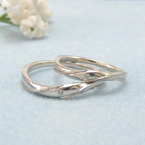 見てから決める!>>K18WG 結婚指輪 シャルマン【charmant】 ディアレスト マリッジリング ペアリング 2本セット ◆サンプル貸出サービスあり!◆