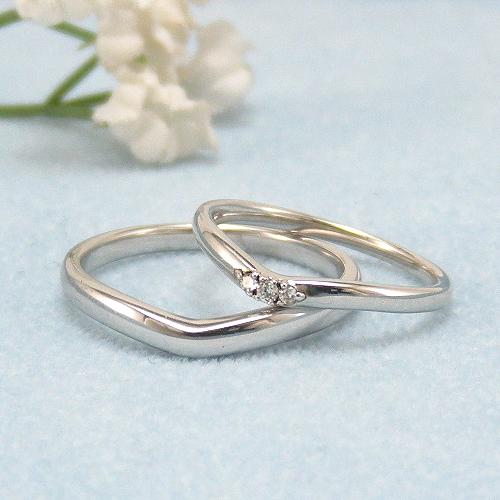 見てから決める!>>K18WG 結婚指輪 クレール【clair】 ディアレスト マリッジリング ペアリング 2本セット ◆サンプル貸出サービスあり!◆