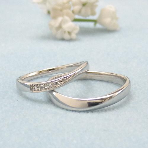 見てから決める!>>K18WG 結婚指輪 エスポワール【espoir】 ディアレスト マリッジリング ペアリング 2本セット ◆サンプル貸出サービスあり!◆