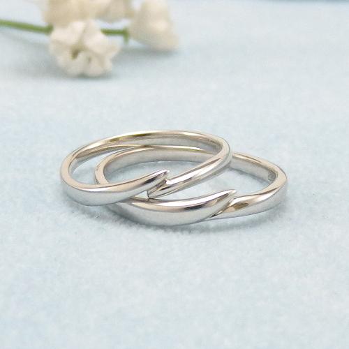 見てから決める!>>K18WG 結婚指輪 ボンジュール【bonjuour】 ディアレスト マリッジリング ペアリング 2本セット ◆サンプル貸出サービスあり!◆