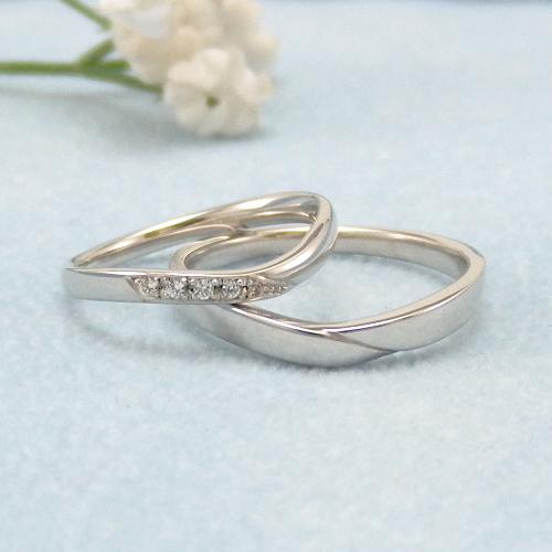 見てから決める!>>K18WG 結婚指輪 スヴニール【souvenir】 ディアレスト マリッジリング ペアリング 2本セット ◆サンプル貸出サービスあり!◆