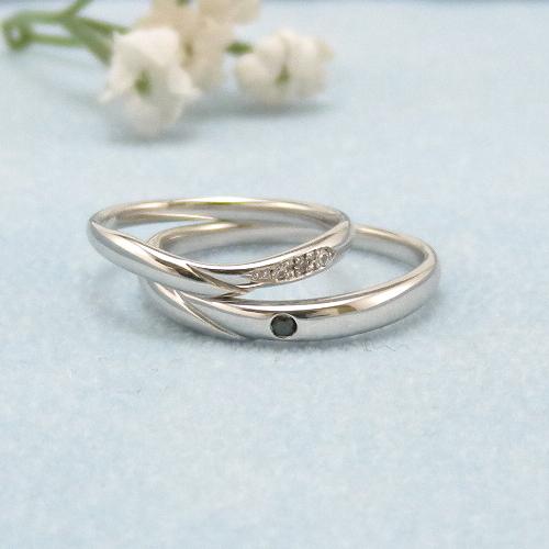 見てから決める!>>K18WG 結婚指輪 ソレイユ【soleil】 ディアレスト マリッジリング ペアリング 2本セット ◆サンプル貸出サービスあり!◆