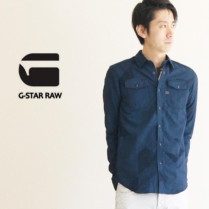 a4aba14632 G-star RAW ☆ g-star RAW   the star row ☆ 2015 spring summer new lightweight  Camoflage denim shirts (LANDOH SHIRT l s) (Lot 83621E-6763) (color   MEDIUM  ...