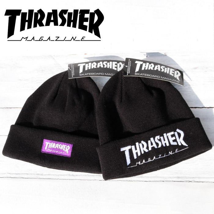 f6f72717a52 ... street where THRASHER slasher MAG LOGO embroidery LOGO KNIT BEANIE CAP  knit hat mug logo cap  Lot 17TH-N62