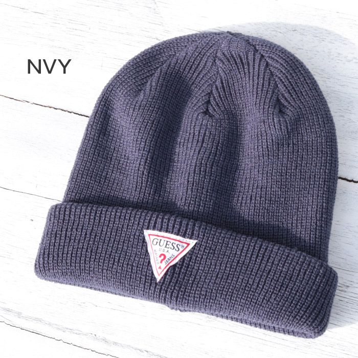 f9c67d0b53e45 ゲス GUESS TRIANGLE LOGO BEANIE triangle logo beanie knit hat knit cap men  gap Dis unisex hat  Lot AI3S8374KH  street casual popular pair look matching  link ...