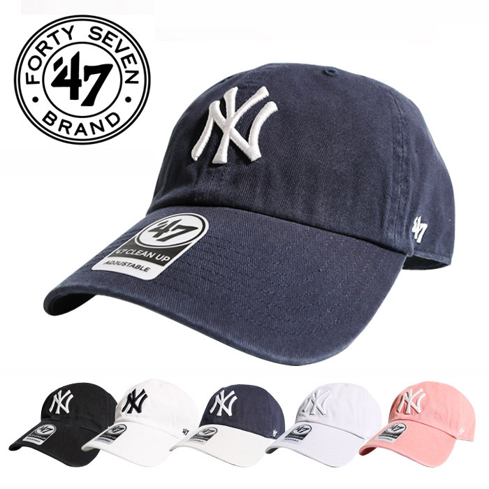 cea5cc9e232 Hip-hop street dance of 47brand forty seven brand NY YANKEES 47 CLEAN UP  cleaning up  Lot B-RGW17GWS  FORTY SEVEN ball cap hat New York Yankees  forty seven ...