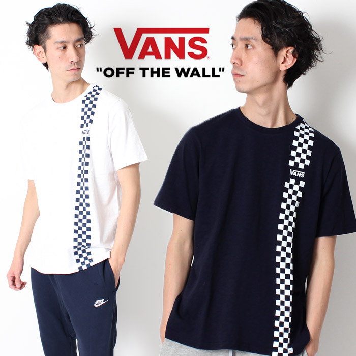 8020d5167 VANS station wagons T-shirt off the wall vans checker flag CHECKER LINE T-  ...