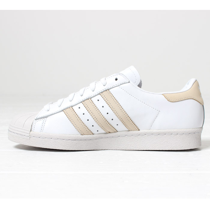 meilleure sélection f8198 94d62 The adidas SUPERSTAR 80S superstar [Lot/CG7085] sneakers white beige three  stripe new work trend shoes men's cushion which is easy to wear takes the  ...
