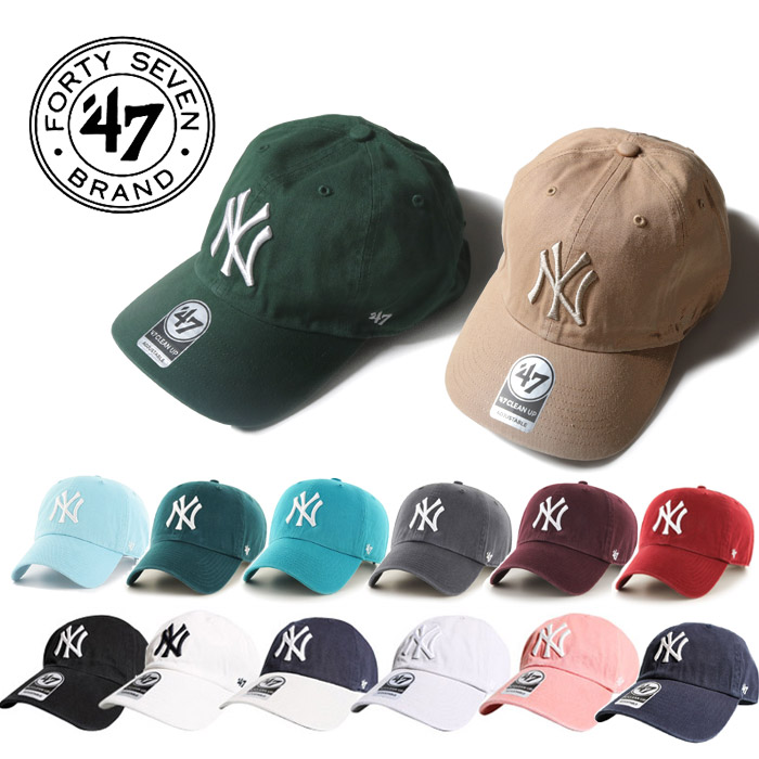 47brand フォーティーセブンブランド NY SALE YANKEES '47 47 CLEAN UP Lot B-RGW17GWS FORTY SEVEN フォーティーセブンメンズ クリーンナップ b系 レディース ボールキャップ フォーティーセブン ヒップホップ メンズ 売り出し ニューヨークヤンキース 帽子 正規取扱店