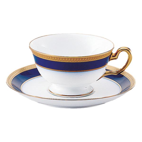大倉陶園 ロイヤルブルークラウン ティー・コーヒー碗皿 (プレゼント/ギフト/GIFT) のし 包装 ラッピング メッセージカード 無料 p