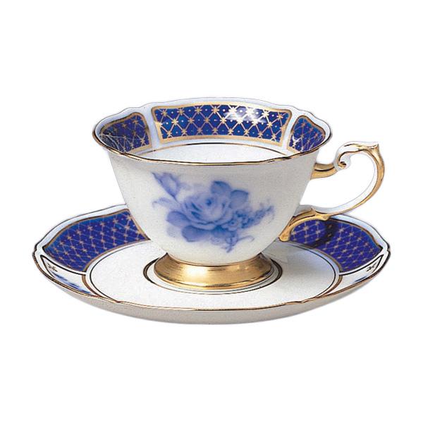 大倉陶園 ブルーインペリアル ティー・コーヒー碗皿 (プレゼント/ギフト/GIFT) のし 包装 ラッピング メッセージカード 無料