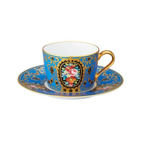 ノリタケ 食器 オマージュコレクション カプチーノ碗皿(青絵花文)お祝い 内祝い プレゼント のし ラッピング メッセージカード 無料