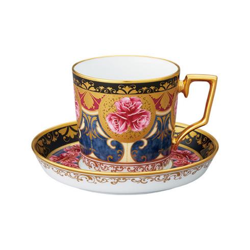 【クーポン配布】  ノリタケ 食器 オマージュコレクション コーヒー碗皿(色絵薔薇文)お祝い 内祝い プレゼント のし ラッピング メッセージカード 無料