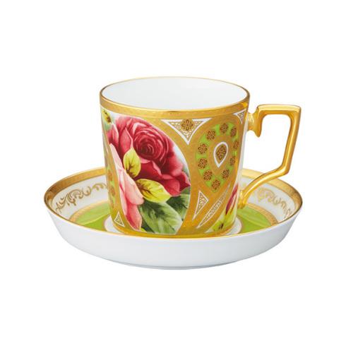 【クーポン配布】  ノリタケ 食器 オマージュコレクション コーヒー碗皿(若草色絵薔薇文)お祝い 内祝い プレゼント のし ラッピング メッセージカード 無料