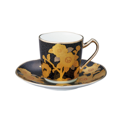 ノリタケ 食器 オマージュコレクション デミタス碗皿(黒絵薔薇文)お祝い 内祝い プレゼント のし ラッピング メッセージカード 無料