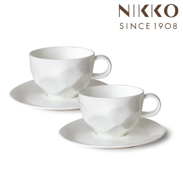 NIKKO こだわりの食器 ニッコー 花影 / 沙羅 花影 ペア兼用碗皿(230cc) 〈11201-CC00〉 のし ラッピング メッセージカード 無料