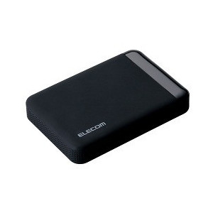 送料無料!エレコム HDD ポータブルハードディスク 2TB USB3.0 テレビ録画対応 かんたん接続ガイド付き 静穏設計 SeeQVault ブラック ELP-QEN020UBK