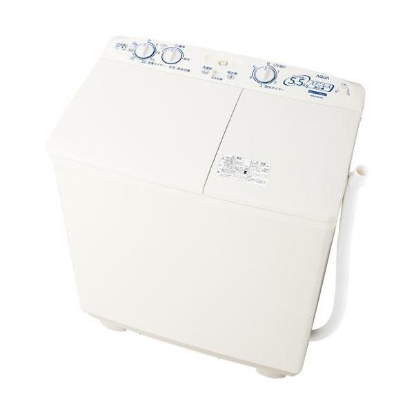 送料無料!アクア 5.5kg 2槽式洗濯機 ホワイトAQUA AQW-N551-W
