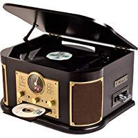 送料無料!山善(YAMAZEN) キュリオム マルチレコードプレーヤー リモコン付き (CD/レコード/カセットテープ/AM FMラジオ/USB/SD) MRP-M100CR(DB)