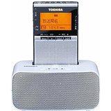 送料無料!東芝 ワイドFM/AMラジオ ステレオスピ-カー付充電台セット(シルバー)TOSHIBA TY-SPR7(4560158872776)