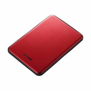BUFFALO USB3.1(Gen.1)対応 アルミ素材&薄型ポータブルHDD 1TB レッド HD-PUS1.0U3-RDD