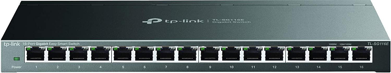 TP-Link 16ポート ハブ 10/100/1000Mbps 管理機能付き ウォールマウント デスクトップ ギガビット アンマネージ プロ スイッチングハブ TL-SG116E