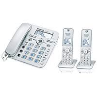 送料無料!パナソニック デジタルコードレス電話機 子機2台付き 迷惑電話対策機能搭載 シルバー VE-GZ31DW-S