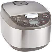 送料無料!シャープ 炊飯器 マイコン方式 5.5合 黒厚釜 球面炊き シルバー KS-S10J-S