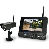 送料無料!ELPA ワイヤレス防犯カメラ&モニターセット CMS-7001