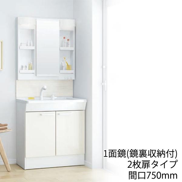 TOTO 洗面化粧台 Fシリーズ:2枚扉タイプ 間口750mm 1面鏡