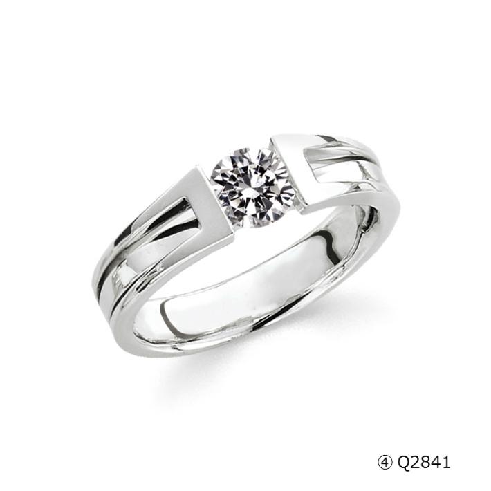 【送料&加工料込・枠下取りもOK】 立て爪ダイヤから普段使いの指輪へ Q2841(0.5ct)ジュエリー修理,ジュエリーリフォーム,アクセサリー修理,アクセサリーリフォーム,宝石修理,宝石リフォーム