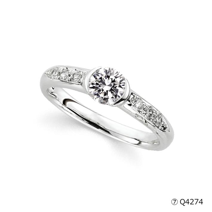 【送料&加工料込・枠下取りもOK】 立て爪ダイヤから普段使いの指輪へ Q4274(0.5ct)ジュエリー修理,ジュエリーリフォーム,アクセサリー修理,アクセサリーリフォーム,宝石修理,宝石リフォーム