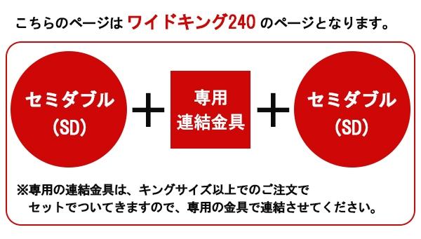 棚照明付ラインデザインベッドWK240(SD+SD)SGマーク付国産ボンネルコイルスプリングマットレス付