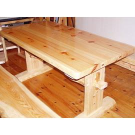 ダイニングテーブル(ひのき材)幅120cm