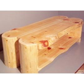 テレビ台(半丸太足・ひのき材)幅100cm