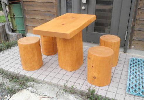 ☆デッキテーブルセット(ひのき材)幅90cm☆
