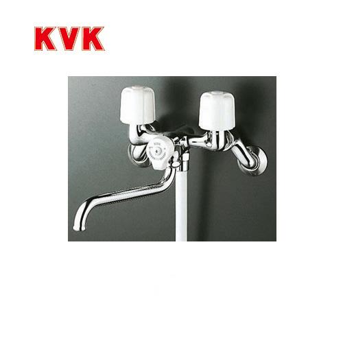 [KF100N2R24]KVK 浴室水栓 シャワー水栓 2ハンドルシャワー(壁付きタイプ) 240mmパイプ付 一時止水 逆止弁 エコこま(快適節水) 蛇口 【送料無料】 壁付タイプ おしゃれ