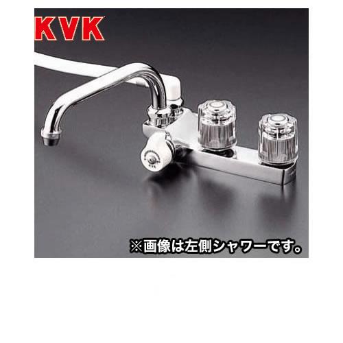 [KF13RGEC]KVK 浴室水栓 デッキ形2ハンドルシャワー デッキタイプ(台付き) 右側シャワー 【送料無料】 おしゃれ